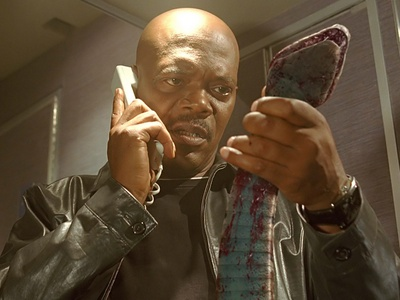 Samuel l Jackson in Snakes on a Plane :)