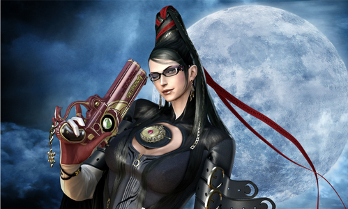 Hope this is close enough.  Bayonetta.