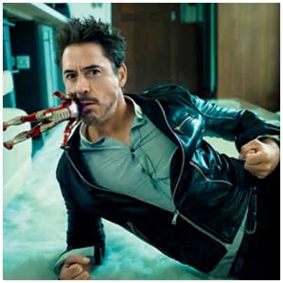 Downey ... biting kind of ... himself ^^