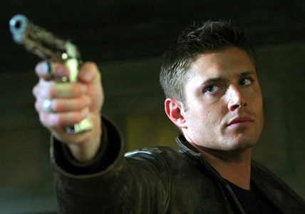 """Dean and his most loyal friend, his pearl-handled gun (from """"Bloodlust"""") <333"""
