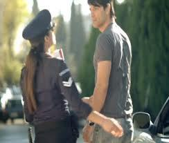 A policewoman slapping Sakis' bum after searching him, what I was saying, there are too lucky women.