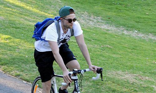 my baby down under,in Australia,riding a bike.Nice legs,baby<3