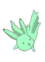 Flying Mint Bunny~ <3
