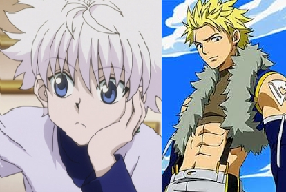 If I had to pick....... I would say either Killua from Hunter x Hunter (left) or Sting from Fairytail (Right)