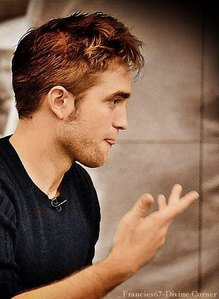 my Rob-Romeo looking to the right,with a little bit of tongue<3
