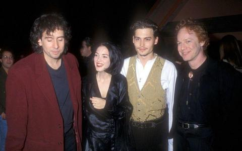 THESE BEAUTIFUL PEOPLE!!!! (Left to right) Tim Burton (director),Winona Ryder (actress), Johnny Depp (actor), Danny Elfman (composer)