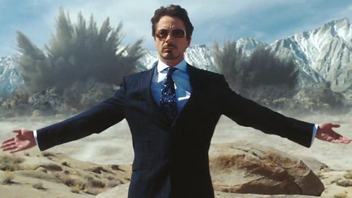 Swagga stark :) - cool people don't look at explosions xD