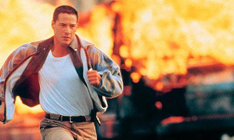 Keanu Reeves in Speed.