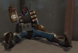 Dec. 11 Lets all get drunk.... This Demoman is XD (please don't get drunk like this demo)