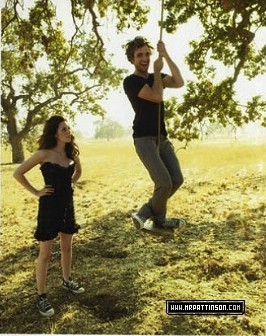 my baby on a swing,with Kristen Stewart looking on<3