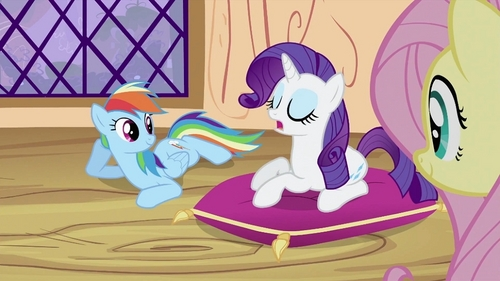 I felt like Rarity when everyone sat on the ground while I sat on a pillow. I don't like sitting on the ground... :)