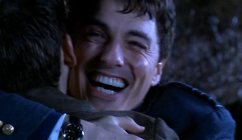 David Tennant whispering to John Barrowman :)