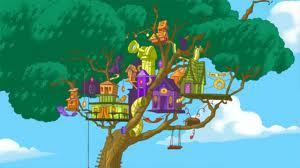 my most favori invention of phineas and ferb is the arbre house ...