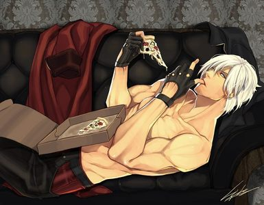 yum yes i will *dante sparda * some one say pizza ?!