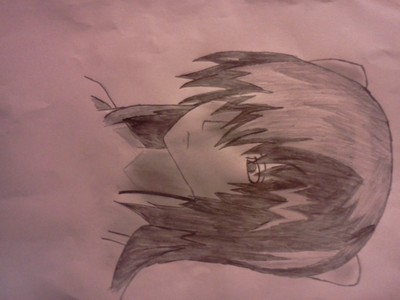 Lucy from elfen lied (yes i drawn this and it is realy bad)