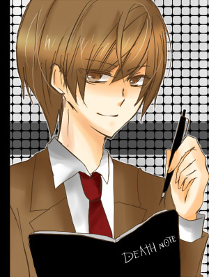 Light and the Death Note.. it is a weapon..