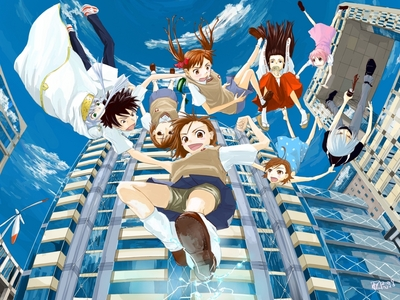 How about To aru kagaku no railgun? Not much romance, a female main character, random funny moments and esper action XD It's really good