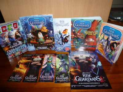 OK, you should get them at your nearby bookshop. This is a photo with my random Rise of the Guardians items. But it includes 3 official Rise of the Guardians books... ...