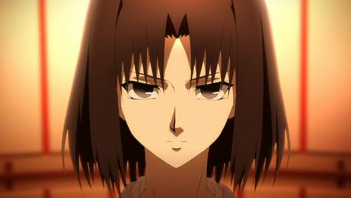 Shiki Ryōgi - Kara no Kyoukai she's pretty emotionless, if she does دکھائیں any its usually anger یا irritation
