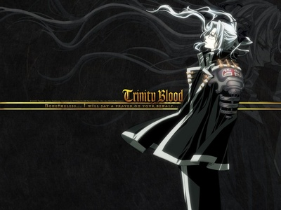 Well I'm not quite sure if this is random but he is a guy and it is [b]Father Abel Nightroad[/b] from [b]Trinity Blood[/b] which some people may forget about that awesome دکھائیں but if آپ didn't that's good lol. XD
