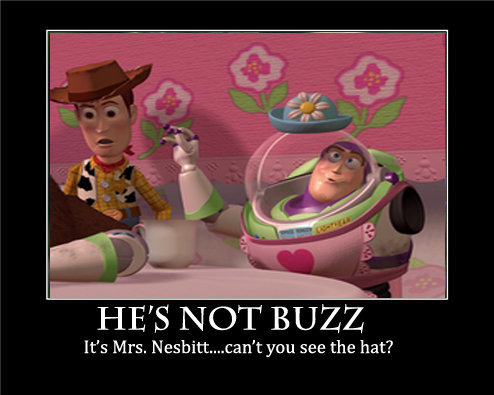 """""""Don't you get it?! You see the hat?! I am Mrs. Nesbitt""""."""