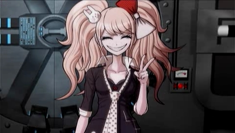 Dangan Ronpa's Junko comes to mind!! She's super cute/pretty/absolutely wonderful. Her character design always appeared stunning to me. ([b]Warning[/b]: Looking her up on google search, of anything else like that, will bring up super [i][b]major[/b][/i] series-ruining dangan ronpa spoilers q u q!!)