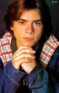 My Matthew as a teen supporting his head with his hands. :)