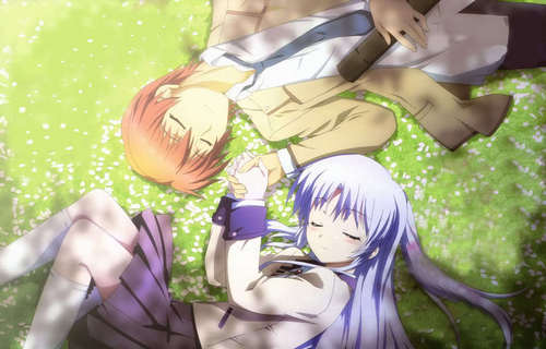 Kanade and Otonashi ~<3 From Angel Beats!