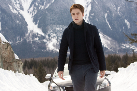 here's my gorgeous Robert,in a scene from BD 2 with snow capped mountains behind him.What a gorgeous view,right?Oh and the mountains are nice too,but they don't compare to my beautiful Robert<3