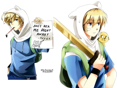 Finn The Human From Adventure Time With Jake There Are More Cool Anime Ver