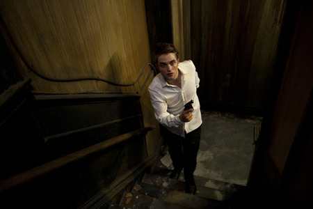 my gorgeous Robert,in a scene from Cosmopolis inside a very old building<3