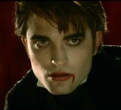 my sexy vampire,Edward(played দ্বারা my gorgeous Robert) in a scene from Twilight,with a small bit of blood at the corner of his mouth<3