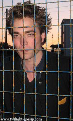 my gorgeous Robert behind bars...lol<3