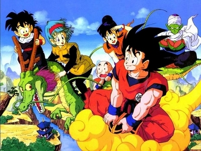 Dragon Dragon! Rock the Dragon! Dragon Ball Z! My Mom had to deal with me and my older brother watching it when we were younger but after awhile she grew to adore it. -_- She wears Dragon Ball Z pajamas.