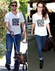 my gorgeous Robert and his sweetheart,Kristen both wearing the same shirt,but on 2 different occasions<3