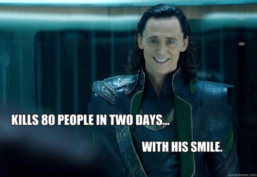 It's mostly MARVEL stuff but it's The Avengers,Iron Man,Thor,and of course Loki Laufeyson!! :D ....It was kinda hard to choose a picture because I have SO MANY Loki pics,including 粉丝 art.(Not 由 me) ._.