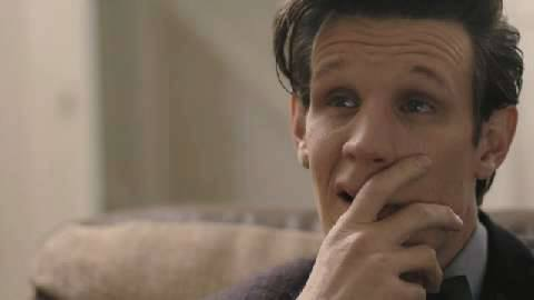 Matt Smith on a emotional and so sad scene of Doctor Who's series finale. I was crying with him in this moment.