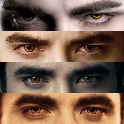 my gorgeous golden eyed vampire,Edward Cullen from the Twilight saga(played door my handsome and gorgeous Robert).These eyes are better and meer precious than all the goud in the world.Beauty is definitely in the eye of the beholder<3