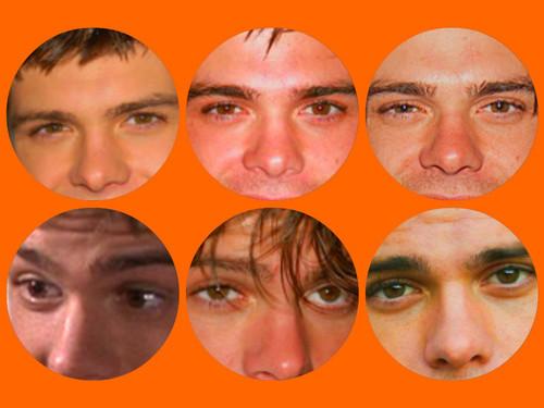 My Matthew's beautiful brown eyes. <3333