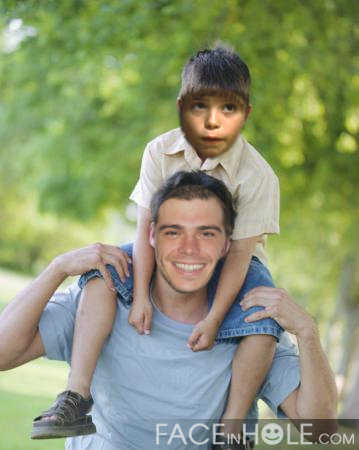 Matthew with a child. I created it. (Hmmm, maybe our child) :D