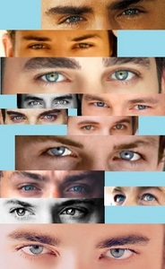 Couldn't pick just one actor so here's a collage of 12 different hotties with gorgeous eyes!