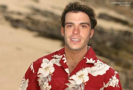 Matthew wearing a Hawaiian shirt. :D