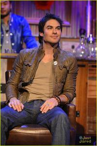 Ian somerhalder in a chair ♥... I guess the chair spins...