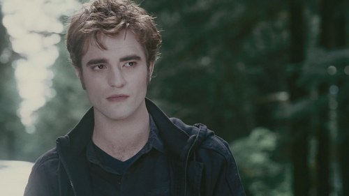 my gorgeous Robert wearing black contacts in his eyes in this scene from Eclipse(does that count?)