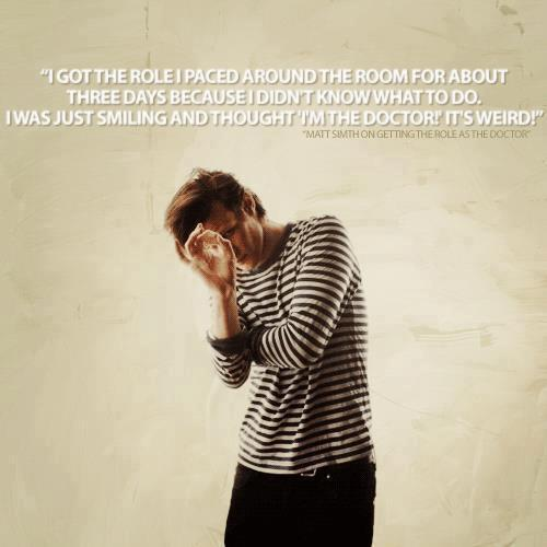 Matt talking about he got the role of The Doctor.
