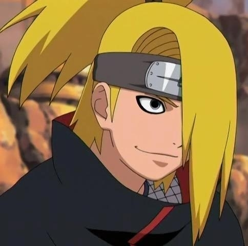 Deidara always adds hm to the end of his sentences!