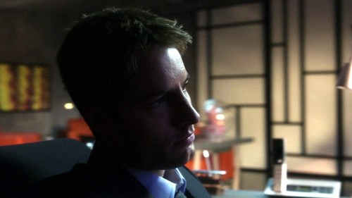 "Ollie in his office at the end of ""Injustice"", waiting on Clark <3333"