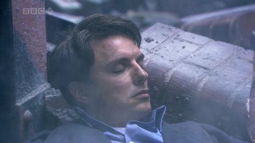John Barrowman as Captain Jack Harkness when hes about to die.