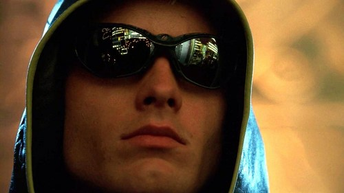 """The """"Green Arrow"""" makes his first appearance, overlooking Metropolis through very cool shades (""""Arrow"""") <3333"""