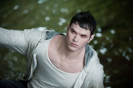 Looking pasty as Emmett Cullen on Twilight saga eclipse. The pale look doesn't impress me.